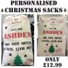 Personalised Christmas Sacks
