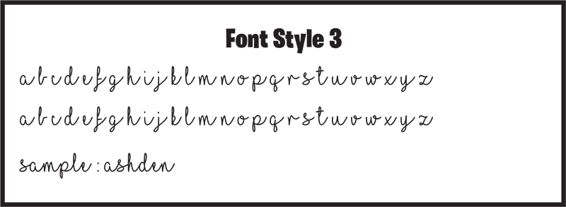 Font Style 3